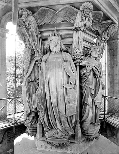Chartreuse de Champmol (ancienne) Puits de Moïse : David et Jérémie, Delaunay (photographe),