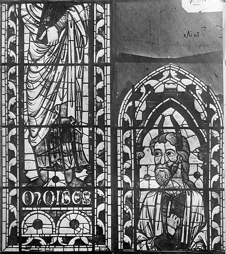 Cathédrale Saint-Etienne Vitrail : Moïse, Leprévost (photographe),