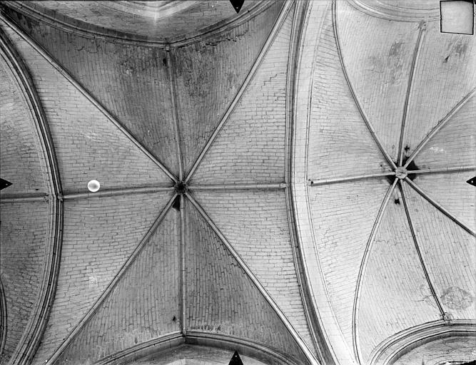Eglise Sainte-Radegonde Voûtes de la nef, Gossin (photographe),