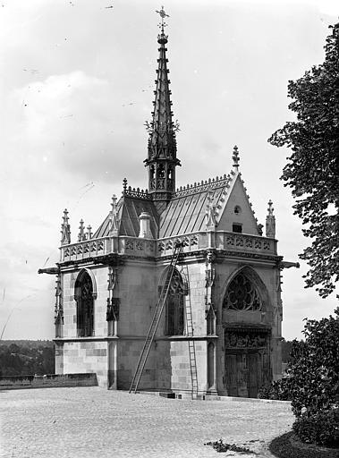 Château Chapelle Saint-Hubert : Vue d'ensemble du côté de l'entrée, Cousin,