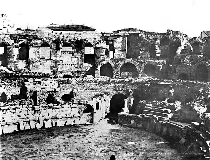 Amphithéâtre Vue intérieure (partie centrale du panorama), Baldus, Edouard (photographe),