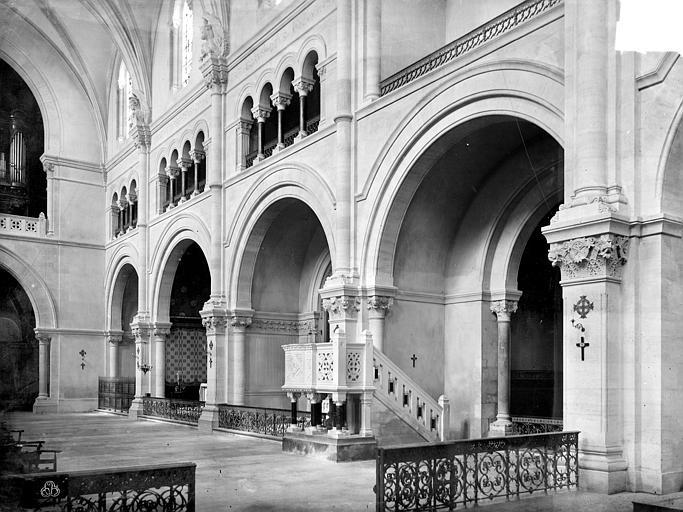 Cathédrale Notre-Dame Vue intérieure de la nef, côté nord, Mieusement, Médéric (photographe),
