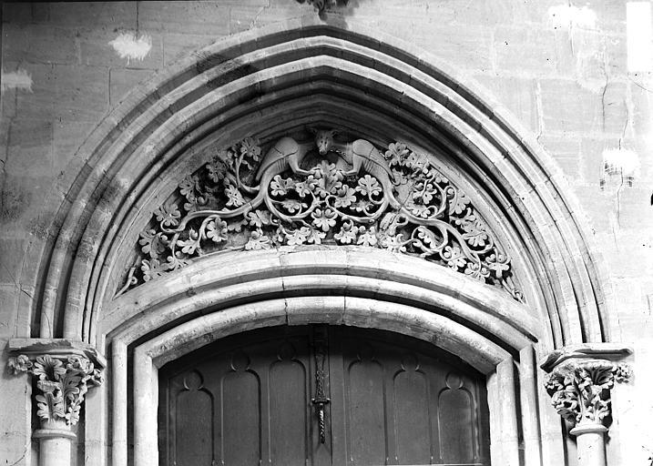 Cathédrale Tympan d'une petite porte, Enlart, Camille (historien),