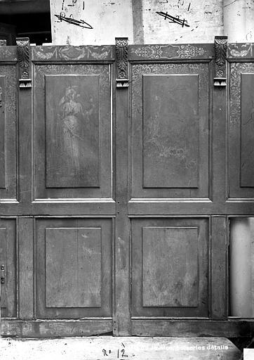 Palais de Justice Lambris peints de la salle des Audiences : Figures allégoriques, Bourgogne, L. (photographe),