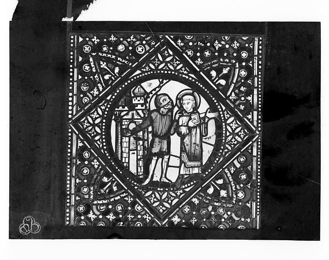 Cathédrale Saint-Jean Vitrail de saint Etienne : Saint Etienne arrêté, ,