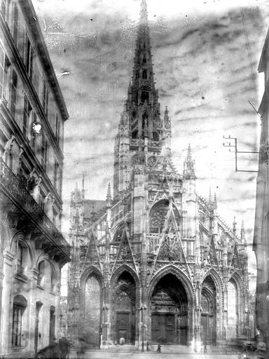 Eglise Saint-Maclou Ensemble ouest, Enlart, Camille (historien),
