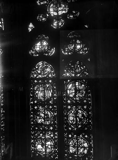 Cathédrale Notre-Dame Chapelles du choeur, vitrail M', Gaudin,