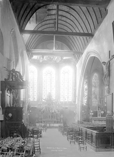 Eglise Notre-Dame-de-Froide-Rue (ancienne) ou Eglise Saint-Sauveur (actuelle) Vue intérieure du choeur, Durand, Jean-Eugène (photographe),