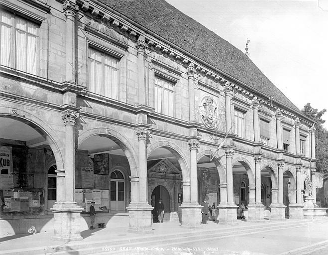 Hôtel de Ville Façade : Galerie d'arcade, Neurdein (frères) ; Neurdein, Louis ; Neurdein, Louis (photographe),