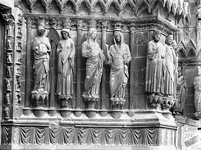 Cathédrale Notre-Dame Portail ouest, porte centrale, ébrasement droit, Lajoie, Abel,