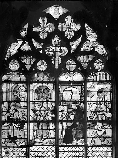 Eglise Saint-Bonnet Vitrail : Vie de saint Claude, Leprévost (photographe),