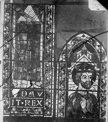 Cathédrale Saint-Etienne Vitrail : David, Leprévost (photographe),