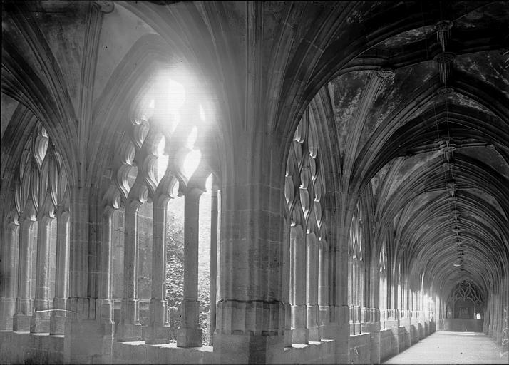 Cathédrale Notre-Dame-de-l'Assomption Cloître: angle de deux galeries, Enlart, Camille (historien),