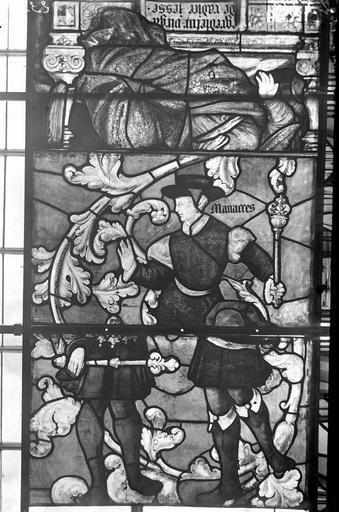 Eglise Vitraux, panneaux 2, 3, 7 de la baie E, Nadeau, H. (photographe),