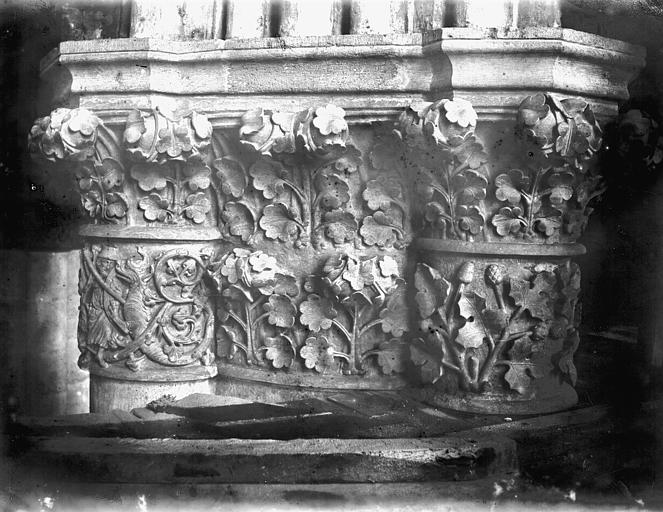 Cathédrale Notre-Dame Chapelle absidiale, chapiteau, Lajoie, Abel,