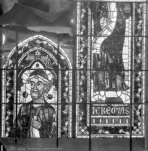 Cathédrale Saint-Etienne Vitrail : Jérémie, Leprévost (photographe),