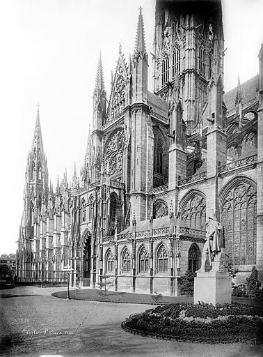 Eglise Saint-Ouen Façade sud en perspective, Mieusement, Médéric (photographe),