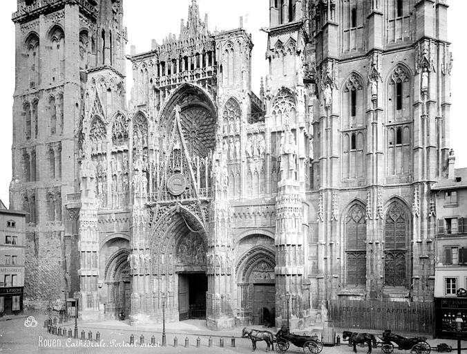 Cathédrale Notre-Dame Façade ouest : partie inférieure et partie médiane, Mieusement, Médéric (photographe),