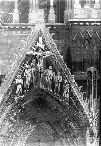 Cathédrale Notre-Dame Portail ouest, pignon de la porte nord, Lajoie, Abel,