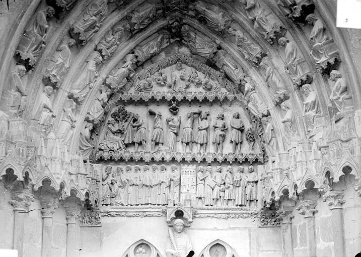 Cathédrale Saint-Etienne Quatrième portail de la façade ouest : tympan, Doucet ; Baudet (photographe),