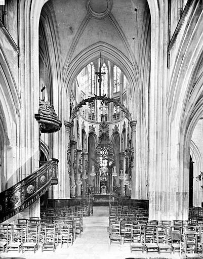 Eglise Saint-Vincent (ancienne) Nef, Neurdein Frères (photographes),