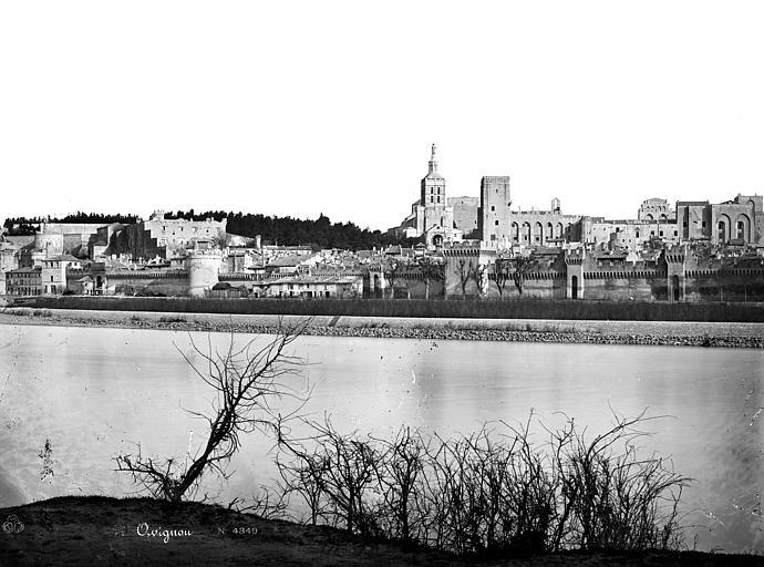 Palais des Papes Vue générale prise de l'autre rive du Rhône, Mieusement, Médéric (photographe),