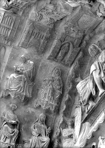 Cathédrale Notre-Dame Portail nord, Beau Dieu, sommet de la voussure, Lajoie, Abel,