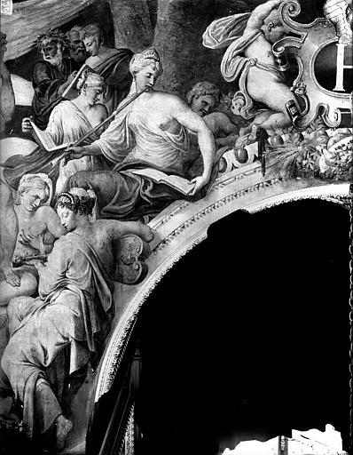 Domaine national, château Peintures murales de la galerie Henri II, partie droite du Parnasse, Service photographique,