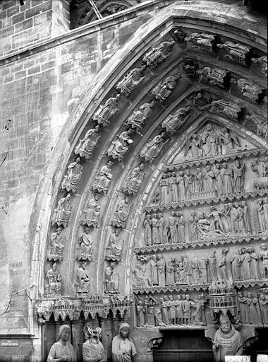 Cathédrale Notre-Dame Portail nord, portail de saint Sixte, voussure gauche et partie du tympan, Lajoie, Abel,