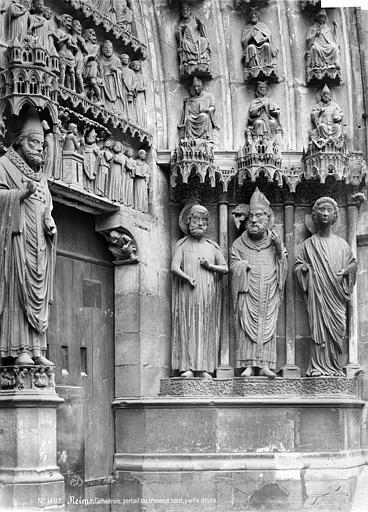 Cathédrale Notre-Dame Portail central du transept nord : statues du trumeau et de l'ébrasement droit, Mieusement, Médéric (photographe),
