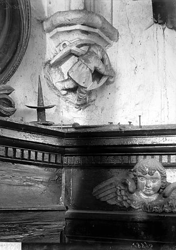 Eglise Saint-Jean-Baptiste (supposée) Choeur: culot et boiseries, Enlart, Camille (historien),