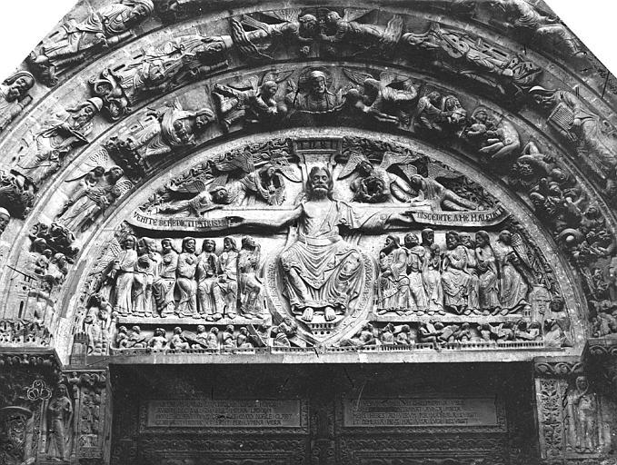 Basilique Saint-Denis Tympan, Durand, Eugène (photographe),