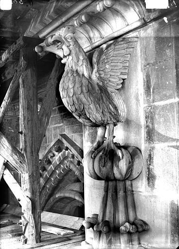 Cathédrale Notre-Dame Couronnement de pinâcle, coq chantant, Lajoie, Abel,