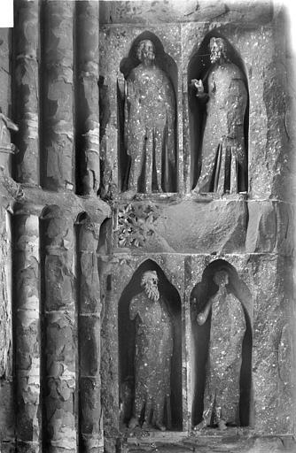 Cathédrale Notre-Dame Revers du portail sud de la façade ouest : Statues, côté sud, 1e et 2e registres, Sainsaulieu, Max (photographe),