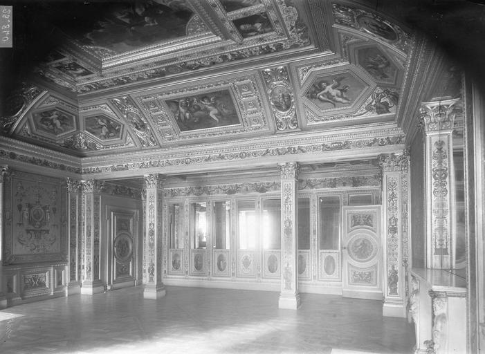 Palais du Luxembourg Salon, peintures, Durand, Eugène (photographe),