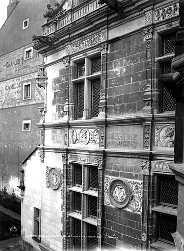 Hôtel Pincé Façade est sur cour, Berthault (photographe),
