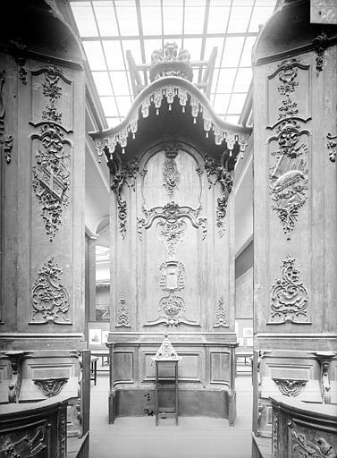 Cathédrale Notre-Dame-de-l'Assomption Stalles, panneau central, Heuzé, Henri (photographe),