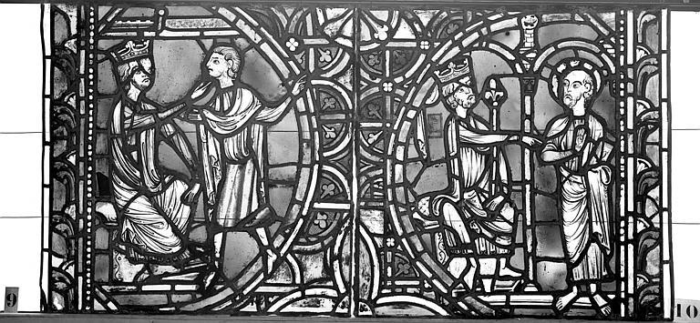 Cathédrale Vitrail, sacristie des Chanoines, saint Pierre et saint Paul, neuvième panneau, Heuzé, Henri (photographe),