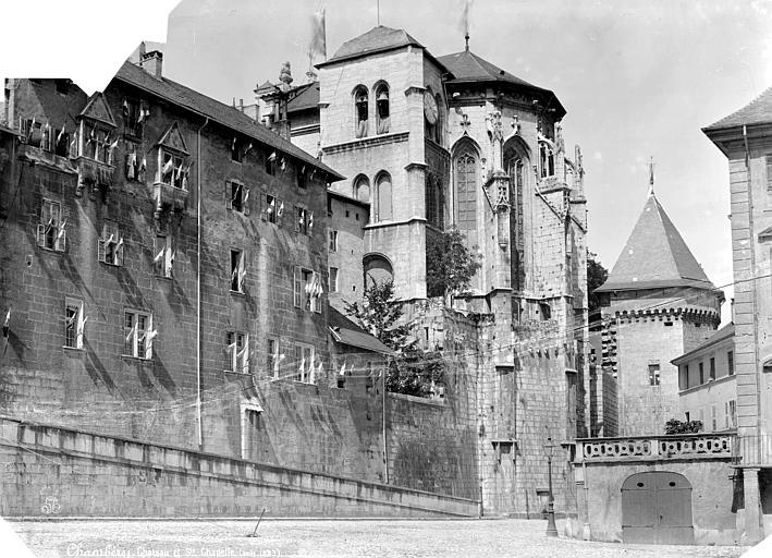 Château des Ducs de Savoie (ancien), Préfecture Vue d'ensemble côté est et abside de la Sainte-Chapelle, Mieusement, Médéric (photographe),