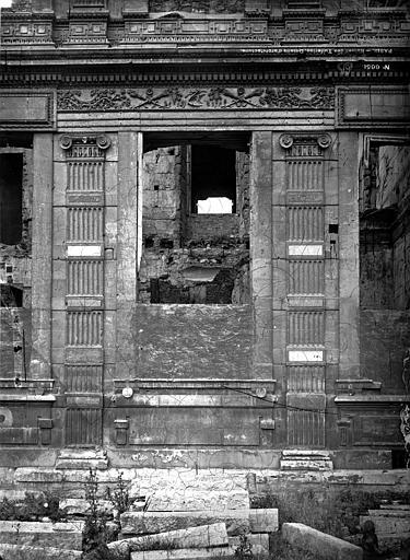 Palais des Tuileries Ruines, Durand, Eugène (photographe),