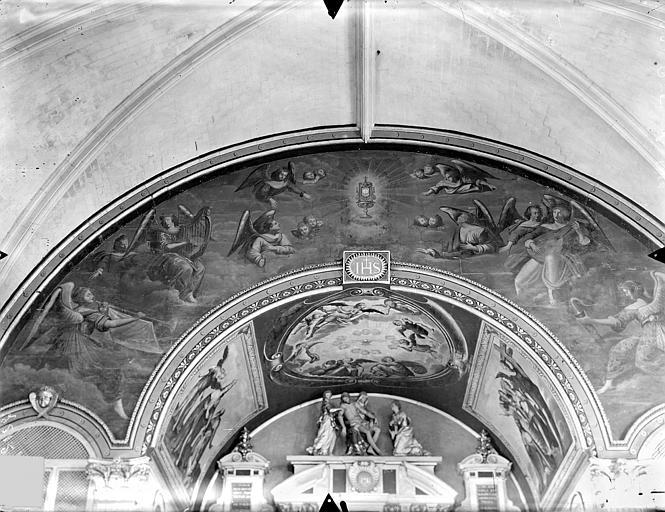 Collège de Jésuites (ancien) dit Collège de Poitiers Chapelle : Peintures murales du choeur, Gossin (photographe),