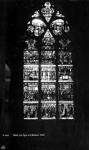 Eglise de la Madeleine Vitrail, Vie de saint Louis, Robert, Paul (photographe),