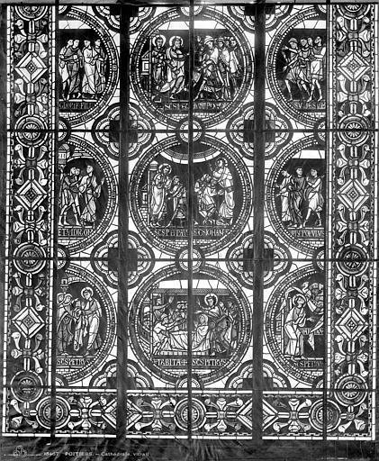 Cathédrale Saint-Pierre Vitrail, baie C : scènes légendaires, Leprévost (photographe),