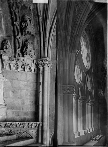Eglise Saint-Etienne Cloître: détail d'une galerie, Enlart, Camille (historien),