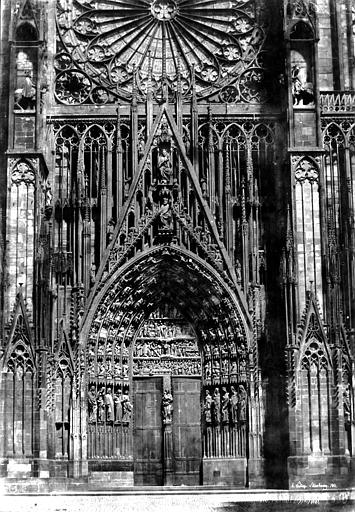 Cathédrale Notre-Dame Portail central de la façade ouest, Le Secq, Henri (photographe),