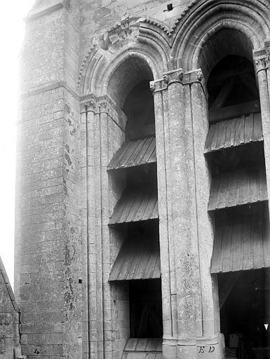 Eglise Notre-Dame ; Cathédrale (ancienne) Tour-clocher : Détail des ouvertures, Durand, Jean-Eugène (photographe),