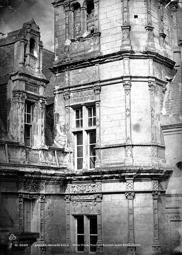 Hôtel Pincé Angle des façades est et sud sur cour, Berthault (photographe),
