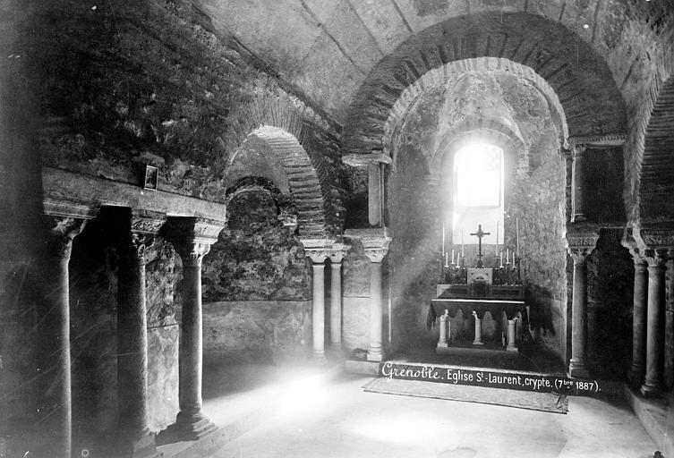 Eglise Saint-Laurent Crypte, Mieusement, Médéric (photographe),