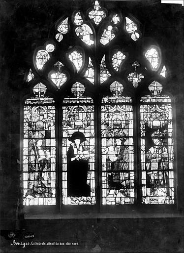 Cathédrale Saint-Etienne Vitrail du bas-côté nord : Les quatre pères de l'église, Mieusement, Médéric (photographe),