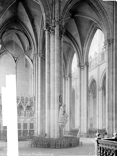 Cathédrale Notre-Dame Vue intérieure du transept et de la nef, vers le nord-ouest, Mieusement, Médéric (photographe),